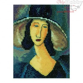 RTO Portrait of woman in hat - Counted Cross Stitch Kit, Art: EH336