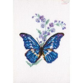 RTO Polemonium and butterfly - Counted Cross Stitch Kit, Art: EH364