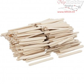 Ice Lolly Sticks, mini, L: 5,5 cm, W: 6 mm, birch, 400pcs