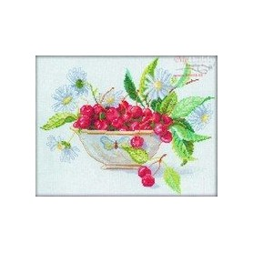 RTO Bowl with Cherries - Counted Cross Stitch Kit, Art: M003