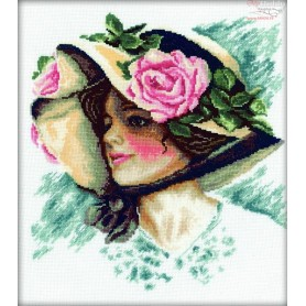 RTO Pretty Lady in the Hat - Counted Cross Stitch Kit, Art: M084