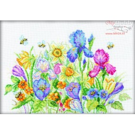RTO Garden Flowers - Counted Cross Stitch Kit, Art: M095