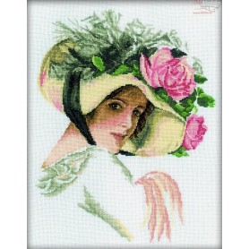 RTO Beauty in the Hat - Counted Cross Stitch Kit, Art: M098
