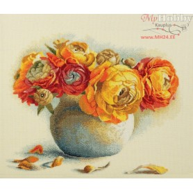RTO Bouquet of Ranunculuses - Counted Cross Stitch Kit, Art: M204