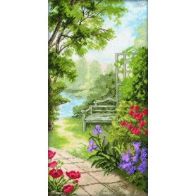 RTO Garden Bench - Counted Cross Stitch Kit, Art: M234