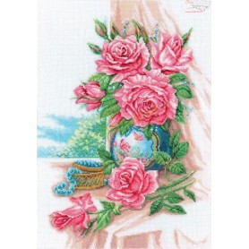 RTO Gorgeous roses - Counted Cross Stitch Kit, Art: M274