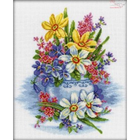 RTO Delicate flowers - Counted Cross Stitch Kit, Art: M276