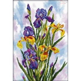 RTO Watercolor Irises - Counted Cross Stitch Kit, Art: M287