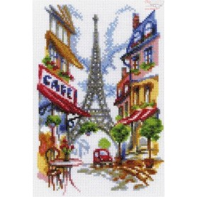 RTO Quiet corner of Paris - Counted Cross Stitch Kit, Art: M292