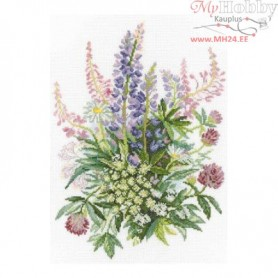 RTO Clover and Lupines - Counted Cross Stitch Kit, Art: M300