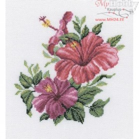 RTO Hibiscus - Counted Cross Stitch Kit, Art: M375