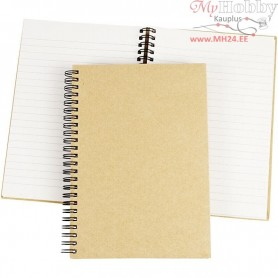 Spiral Bound Notebook, A5 15x21 cm, brown, 1pc