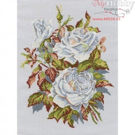 RTO White roses - Counted Cross Stitch Kit, Art: M407
