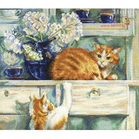 RTO Red troublemakers - Counted Cross Stitch Kit, Art: M482