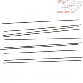 Metal Bar, D: 2 mm, L: 20 cm, 10pcs