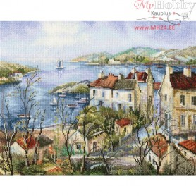 RTO Calm town by the sea - Counted Cross Stitch Kit, Art: M554