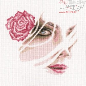RTO Coral rose - Counted Cross Stitch Kit, Art: M567
