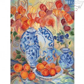 RTO Orange Physalis - Counted Cross Stitch Kit, Art: M582