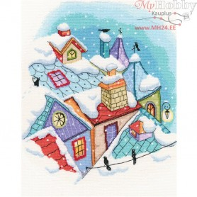 RTO Winter on the roofs - Counted Cross Stitch Kit, Art: M655