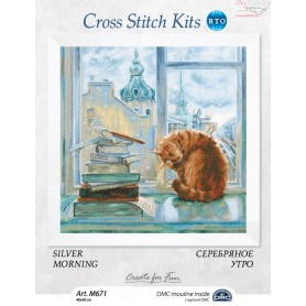RTO Silver morning - Counted Cross Stitch Kit, Art: M671