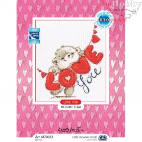 RTO Love you - Counted Cross Stitch Kit, Art: M70033