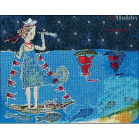 RTO Scarlet sails - Counted Cross Stitch Kit, Art: M698