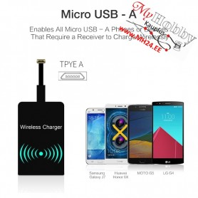 Android Qi Wireless Charger Receiver - USB type A