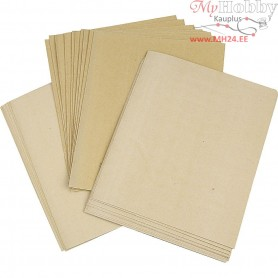 Wet and Dry Sanding Paper, sheet 23x27 cm, 80, 120, 150 Grit, 30mixed sheets