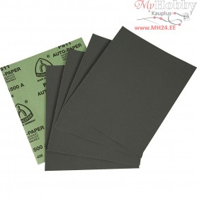 Wet and Dry Sandpaper, sheet 23x28 cm, 1500 Grit, 5sheets