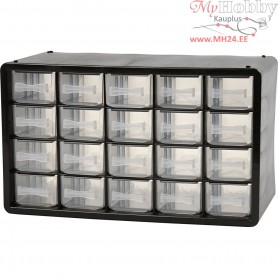 Organiser Cabinet, size 18.4x30.5x14.9 cm, hole size 55x37 mm, PC 20, 1set