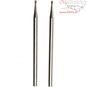 Diamond Grinding Bits, size 1.0 mm, Ball, 2pcs