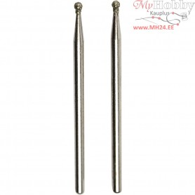 Diamond Grinding Bits, size 1.8 mm, Ball, 2pcs