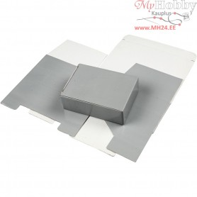 Cardboard Box, LxWxH 15.5x5x11 cm, light grey, 1pc