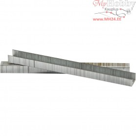 Staples, H: 14 mm, W: 10.5 mm, grey, 1000pcs, thickness 0.7 mm
