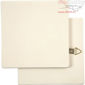 Art Tile, size 13x13 cm, thickness 7 mm, white, 1pc