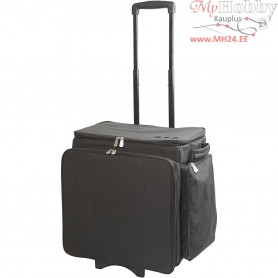 Rolling Compendium Artist Trolley , H: 48 cm, L: 41 cm, black, 1pc, depth 28 cm