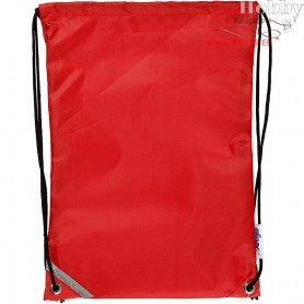 Drawstring bag, size 31x44 cm, red, 1pc