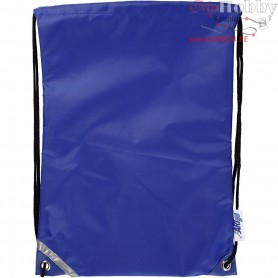 Drawstring bag, size 31x44 cm, blue, 1pc