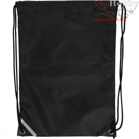 Drawstring bag, size 31x44 cm, black, 1pc