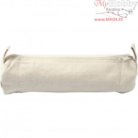 Pencil Case, D: 6 cm, L: 20 cm, light natural, 1pc
