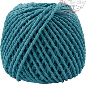 Paper Yarn, thickness 2,5-3 mm, approx. 42 m, turquoise, 150g
