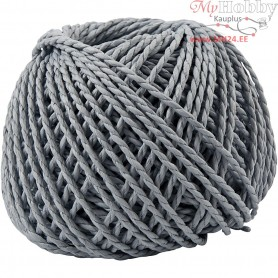 Paper Yarn, thickness 2,5-3 mm, approx. 42 m, light blue, 150g