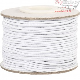 Elastic Beading Cord, thickness 1 mm, white, 25m