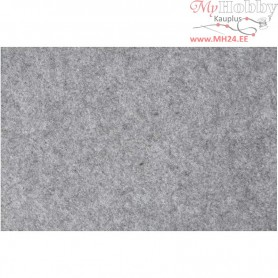 Craft Felt, sheet 42x60 cm, thickness 3 mm, grey, 1sheet