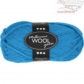 Melbourne Yarn, L: 92 m, light blue, 50g