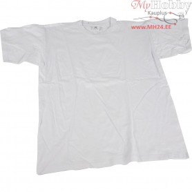 T-shirt, size 3-4 year, W: 32 cm, white, round neck, 1pc