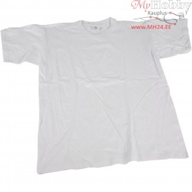 T-shirt, size 9-11 year, W: 42 cm, white, round neck, 1pc