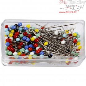 Head Pins, L: 31 mm, 200pcs