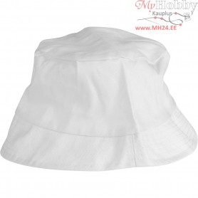 Bucket Hat, size 54 cm, white, 1pc
