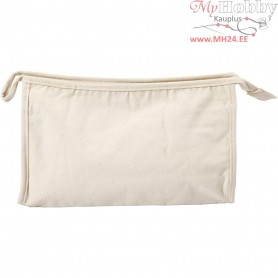 Toilet Bag, size 28x17x10 cm, light natural, 1pc